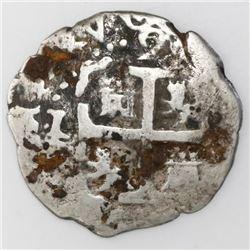 Lima, Peru, cob 2 reales, 1716M.