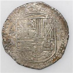 Potosi, Bolivia, cob 2 reales, Philip II, assayer A/B.