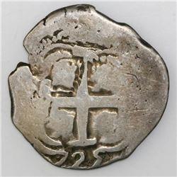 Potosi, Bolivia, cob 2 reales, 1725Y, (Louis I).