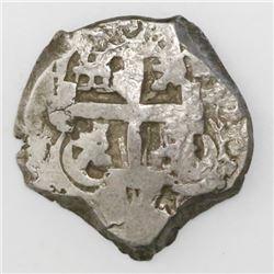 Potosi, Bolivia, cob 2 reales, 1760Y-q, rare.