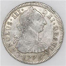 Potosi, Bolivia, bust 2 reales, Charles III, 1775JR.