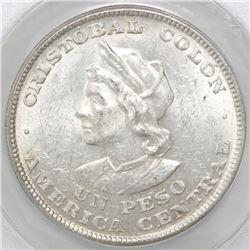 El Salvador, 1 peso, 1904, ANACS AU 55.