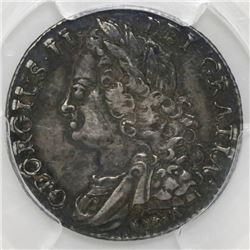 Great Britain (London, England), shilling, George II, 1745, with LIMA below bust, PCGS XF details /