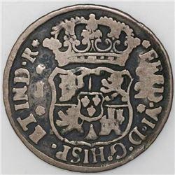 Guatemala, pillar 2 reales, Ferdinand VI, 1758J.