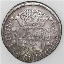 Guatemala, pillar 2 reales, Charles III, 1767P, ex-Richard Stuart.