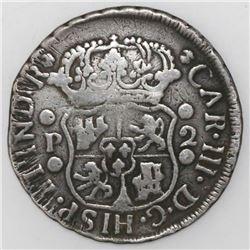 Guatemala, pillar 2 reales, Charles III, 1771P, ex-Richard Stuart.