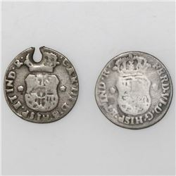 Lot of two Guatemala, pillar 1/2R, both ex-Richard Stuart: Ferdinand VI, 1755, and Charles III, 1763