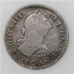 Guatemala, bust 1 real, Charles III, 1781P, ex-Richard Stuart.