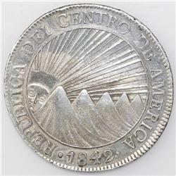 Guatemala (Central American Republic), 8 reales, 1842/37MA.