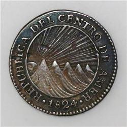 Guatemala (Central American Republic), 1 real, 1824M.