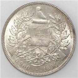 Guatemala (struck by Heaton mint, England), 4 reales, 1894-H, ex-Richard Stuart.