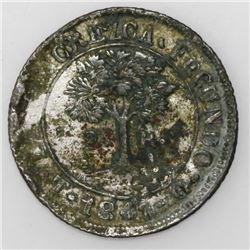 Tegucigalpa, Honduras, low-silver 2 reales (provisional), 1847G.