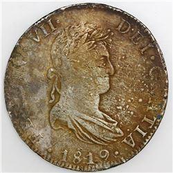 Mexico City, Mexico, bust 8 reales, Ferdinand VII, 1819JJ.