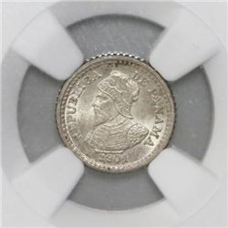 Panama, 2-1/2 centesimos, 1904, NGC MS 66.