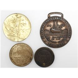 Lot of nine miscellaneous base-metal medals (some US) concerning the Panama Canal, Pan-American Expo