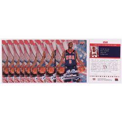 Lot of (10) LeBron James 2004 Fleer USA #NNO
