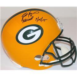 Brett Favre Signed LE Packers Full-Size Helmet Inscribed  4 Retired 7/18/15  #2/44 (Favre Hologram