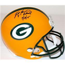 """Brett Favre Signed LE Packers Full-Size Helmet Inscribed """"4 Retired 7/18/15"""" #22/44 (Favre Hologram"""