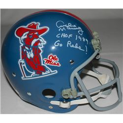 Archie Manning Signed LE Ole Miss Full Size Throwback Suspension Helmet Inscribed  CHOF 1989    Go R