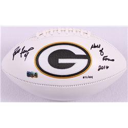 "Brett Favre Signed LE Packers Logo Football Inscribed ""Hall of Fame 2016"" #2/444 (Favre Hologram)"