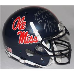 "Patrick Willis Signed Ole Miss Full-Size Authentic Proline Helmet Inscribed ""2x All American""  ""06 S"