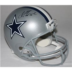 "Troy Aikman Signed Cowboys Full-Size Helmet Inscribed ""HOF '06"" (Aikman Hologram)"