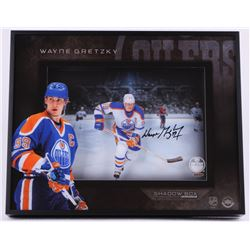 "Wayne Gretzky Signed Oilers ""Center Ice"" 16x21x3 Custom Framed Shadowbox Display (UDA COA)"