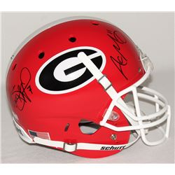 Aaron Murray  Matthew Stafford Signed Georgia Bulldogs Full Size Helmet (Radtke COA)