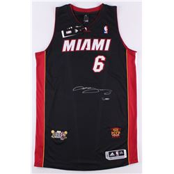 "LeBron James Signed Heat Adidas On-Court Jersey with 2013 ""Back 2 Back""  ""NBA Finals MVP"" Patches Li"