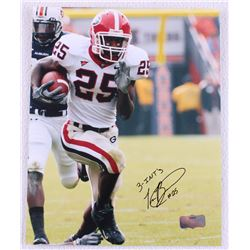 Tra Battle Signed Georgia 8x10 Photo Inscribed  3-INT'S  (Radtke Hologram)