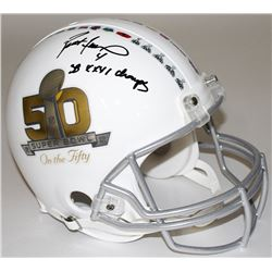 "Brett Favre Signed Super Bowl 50 Full-Size Authentic Pro-Line Helmet Inscribed ""SB XXXI Champs"" (Fav"