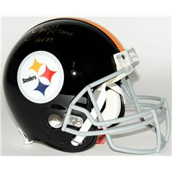 Joe Greene Signed Steelers Throwback Full-Size Authentic Pro-Line Helmet Inscribed  HOF 87  (JSA COA