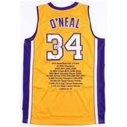 Shaquille O'Neal Signed LE Lakers Career Highlight Stat Jersey (Steiner COA)