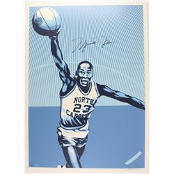 Michael Jordan Signed LE North Carolina 26x36 Lithograph #36/50 (UDA COA)