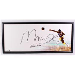 "Magic Johnson Signed Lakers ""The Show"" 20x46 Custom Framed Display Inscribed ""Showtime"" (UDA COA)"