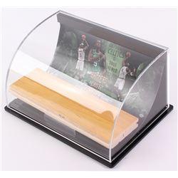 "Kevin Garnett Celtics ""Banners Last Forever"" Game-Used Floor Piece with Custom Curve Display (UDA Ho"