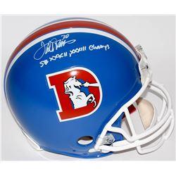 "Terrell Davis Signed Broncos Throwback Full-Size Authentic Pro-Line Helmet Inscribed ""SB XXXII, XXXI"