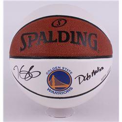 "Kevin Durant Signed LE Warriors Logo Basketball Inscribed ""Dub Nation"" (Panini COA)"