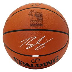 Ben Simmons Signed No. 1 Pick Logo Basketball (UDA COA)