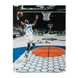 "Glen Rice Signed Hornets ""Attacking the Rim"" 16x20 Photo (UDA COA)"