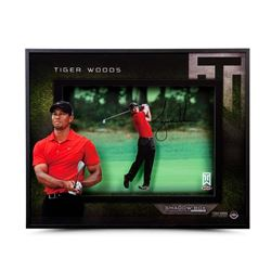 "Tiger Woods Signed ""Approach"" 16x20x2 Custom Framed Shadow Box Display (UDA COA)"