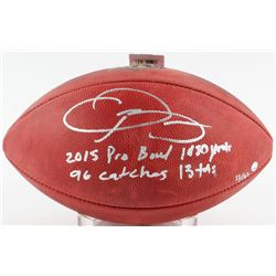 "Odell Beckham Jr. Signed LE ""The Duke"" NFL Official Game Ball with (4) Rookie Record Inscriptions #1"