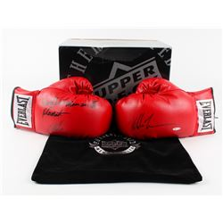 "Mike Tyson Signed Pair of Everlast Boxing Gloves Inscribed ""Baddest Man on the Planet"" (UDA COA)"