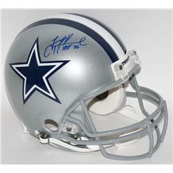 Troy Aikman Signed LE Cowboys Full-Size Authentic Pro-Line Helmet Inscribed  HOF '06  (Steiner COA)