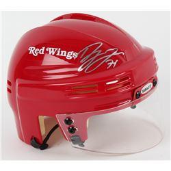 Dylan Larkin Signed Red Wings Mini Helmet (UDA COA)