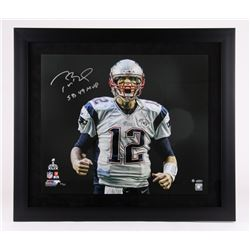 "Tom Brady Signed Patriots Limited Edition ""Super Bowl 49 Touch Down Scream"" 27x31 Custom Framed Phot"
