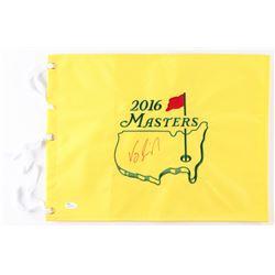 Vijay Singh Signed 2016 Masters Pin Flag (JSA COA)
