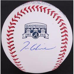 Tom Glavine Signed Turner Field Commemorative OML Baseball (JSA COA)