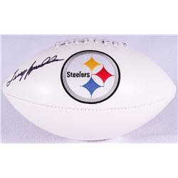 Terry Bradshaw Signed Steelers Logo Football (PSA COA)