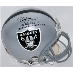 "Rich Gannon Signed Raiders Full-Size Authentic Pro-Line Helmet Inscribed ""NFL MVP 2002""  ""PRO BOWL M"
